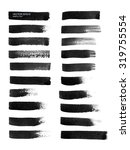vector brush strokes collection.   Shutterstock .eps vector #319755554