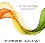 abstract colored wave on white | Shutterstock .eps vector #319757234