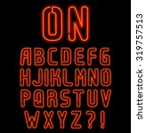 red neon font part 1 of 2 ... | Shutterstock .eps vector #319757513