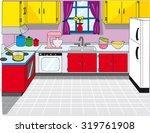 kitchen clean background | Shutterstock .eps vector #319761908