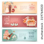 vintage style wedding day party ... | Shutterstock .eps vector #319764020
