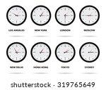 world time zones  eight... | Shutterstock .eps vector #319765649