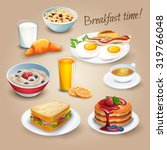 classical hotel breakfast menu... | Shutterstock .eps vector #319766048