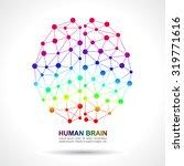 human brain social network... | Shutterstock .eps vector #319771616