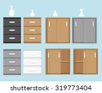 set of cabinet in flat style... | Shutterstock .eps vector #319773404