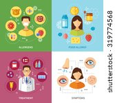 various allergy types symptoms... | Shutterstock .eps vector #319774568