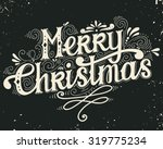 merry christmas retro poster... | Shutterstock .eps vector #319775234