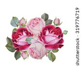 floral card. bouquet of... | Shutterstock . vector #319776719