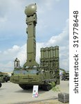Small photo of KUBINKA, MOSCOW OBLAST, RUSSIA - JUN 15, 2015: International military-technical forum ARMY-2015 in military-Patriotic park. Canoniac launcher air defense S-300 (NATO reporting name SA-10 Grumble)