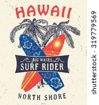 46 hawaii north shore surf... | Shutterstock .eps vector #319779569