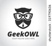 Stock vector geek logo owl owl logo learning education geek owl vector logo template 319790636