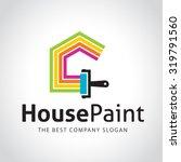 painters choice house paint... | Shutterstock .eps vector #319791560