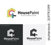 painters choice house paint... | Shutterstock .eps vector #319791599