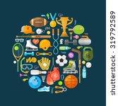 sport vector logo design... | Shutterstock .eps vector #319792589