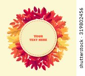 Round Label With Various Autumn ...