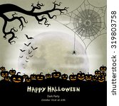 halloween vector background... | Shutterstock .eps vector #319803758