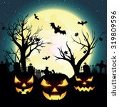 halloween night  vector... | Shutterstock .eps vector #319809596