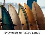 set of different color surf... | Shutterstock . vector #319813838