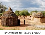 himba village with traditional... | Shutterstock . vector #319817000