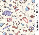hobby background. crafting... | Shutterstock .eps vector #319826360