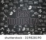 manufacuring concept  chalk... | Shutterstock . vector #319828190