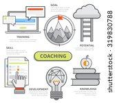coaching business design... | Shutterstock .eps vector #319830788