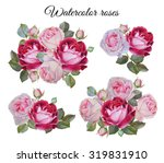 bouquet of roses. flowers set... | Shutterstock . vector #319831910