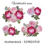 bouquet of roses. flowers set... | Shutterstock . vector #319831910