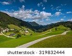 mountain village on a sunny... | Shutterstock . vector #319832444