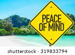 Peace Of Mind Sign With Beach...