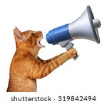 cat announcement concept as a... | Shutterstock . vector #319842494