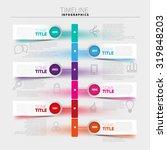 infographic template  timeline... | Shutterstock .eps vector #319848203