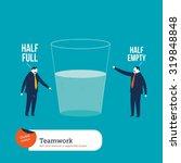 businesspeople watching a half... | Shutterstock .eps vector #319848848