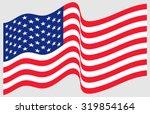 waving american flag    Shutterstock .eps vector #319854164