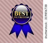 best nutrition blue shiny ribbon | Shutterstock .eps vector #319856738