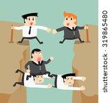 businessman vector go through... | Shutterstock .eps vector #319865480