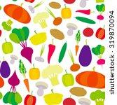 seamless pattern vegetables...   Shutterstock .eps vector #319870094