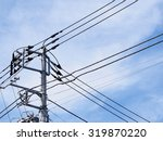 Utility Pole And Power...