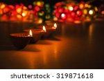 beautiful diwali lighting ... | Shutterstock . vector #319871618