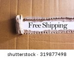 torn paper box with word free... | Shutterstock . vector #319877498
