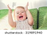 happy toddler girl smiling and... | Shutterstock . vector #319891940