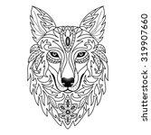ornamental wolf. vector...   Shutterstock .eps vector #319907660