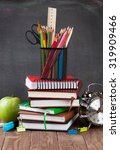school and office supplies on... | Shutterstock . vector #319909466