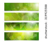 set of green summer banners... | Shutterstock . vector #319925588