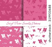 set of seamless backgrounds... | Shutterstock .eps vector #319933688
