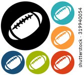 american football icon isolated | Shutterstock . vector #319940054