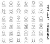 outline set people icons.... | Shutterstock . vector #319941668