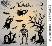vector collection of halloween... | Shutterstock .eps vector #319943873