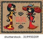 cute card for dia de los... | Shutterstock .eps vector #319950209