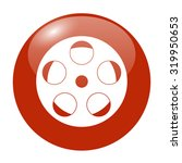 film icon. flat design style  | Shutterstock . vector #319950653